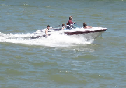 Boating is very popular on Lake LBJ
