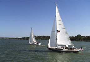 Sailing on Lake LBJ